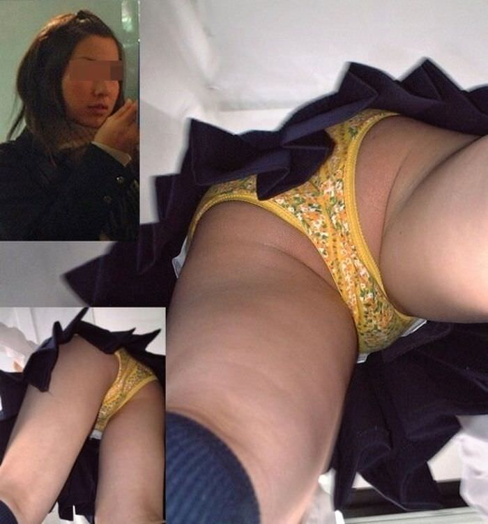 制服jkのパンティーを街撮り盗撮したパンチラ画像www 1004