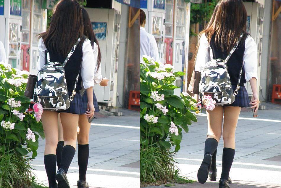 制服jkのパンティーを街撮り盗撮したパンチラ画像www 1014