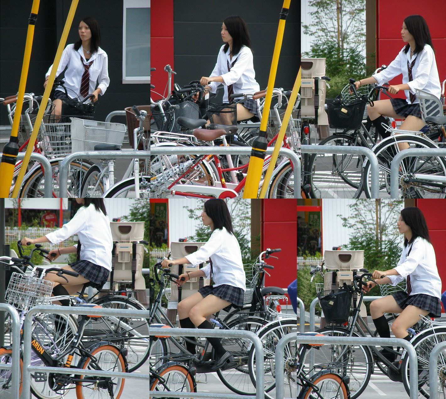 制服jkのパンティーを街撮り盗撮したパンチラ画像www 1017