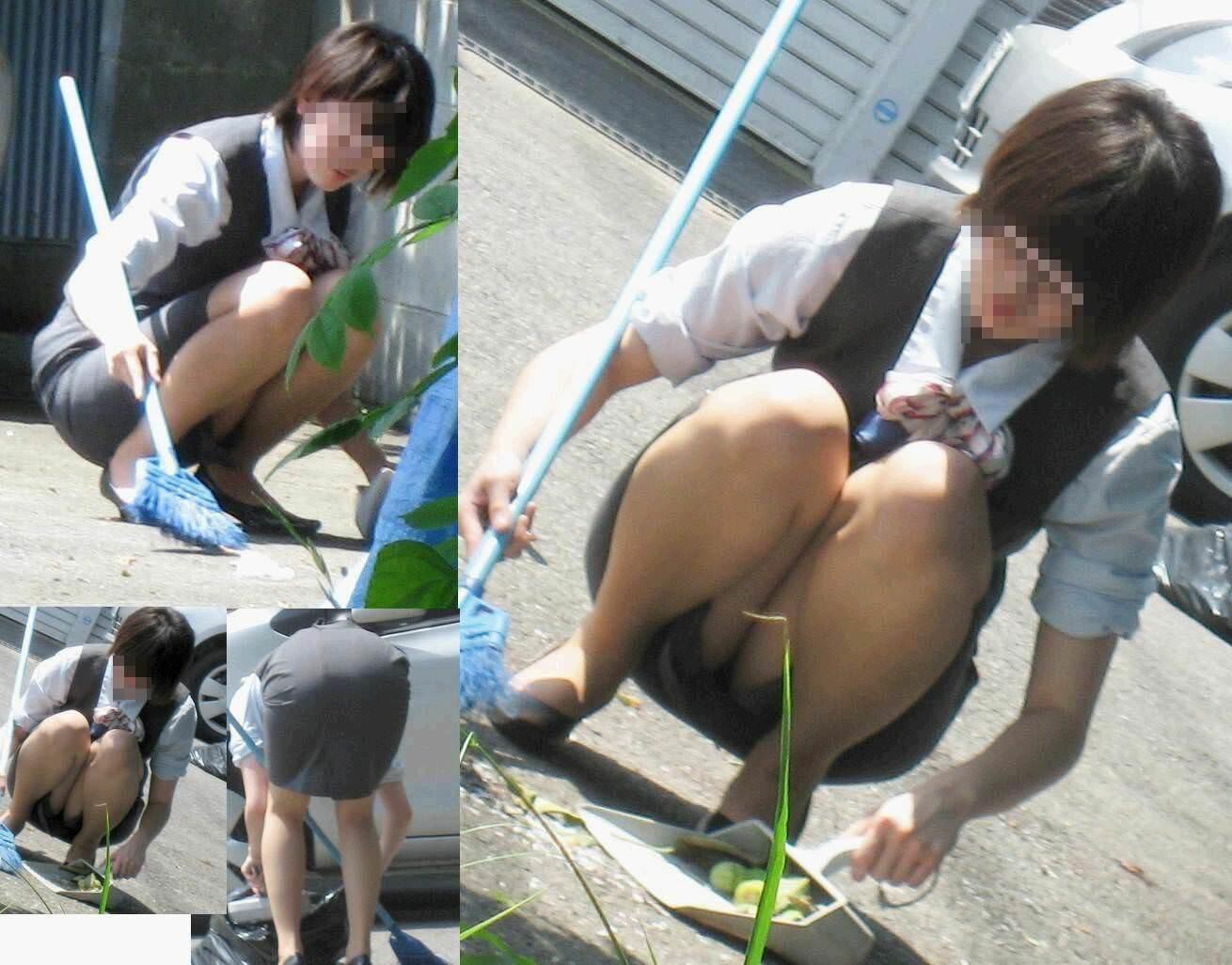 外回りで出会ったOLの街撮りパンチラを偶然盗撮www 1105