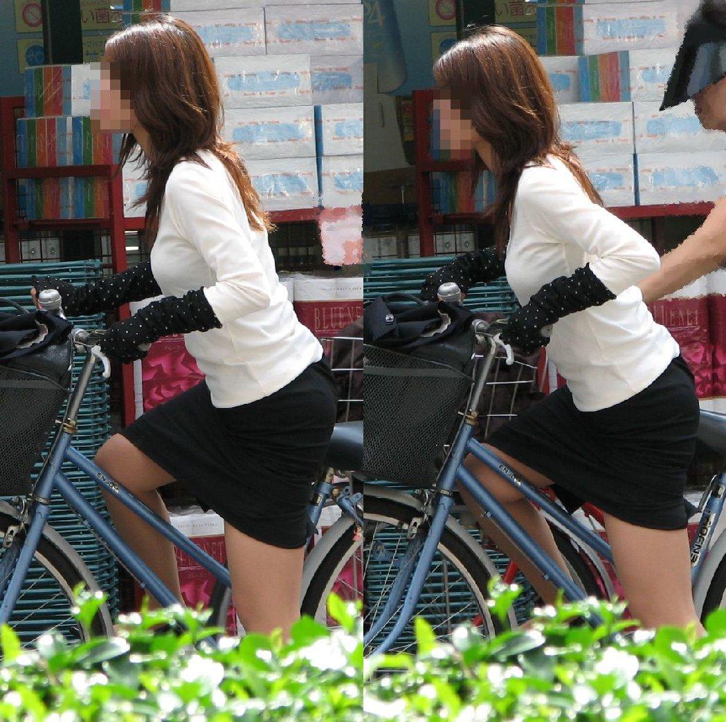 女の子は自転車乗ってるだけでエロいwwwオナニー捗るオカズ画像www 1227