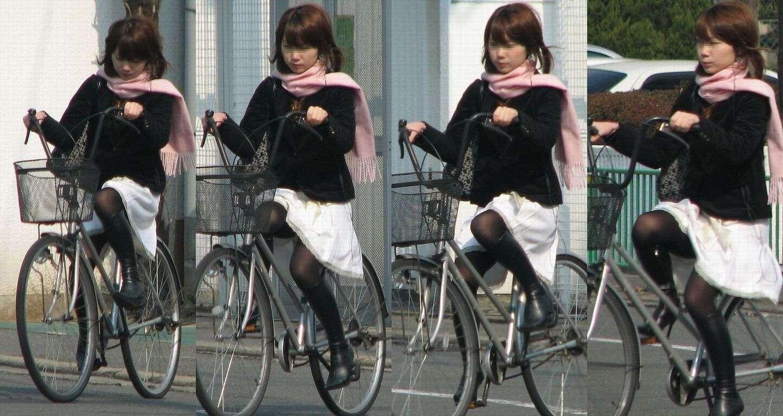 女の子は自転車乗ってるだけでエロいwwwオナニー捗るオカズ画像www 1233