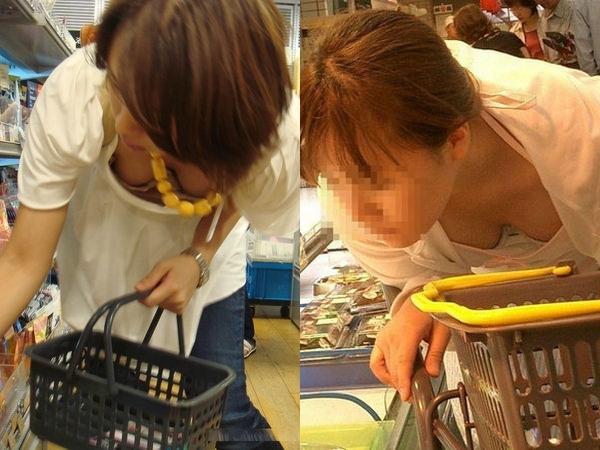 スーパーで買い物中の人妻の胸チラをガチ盗撮www 01 12
