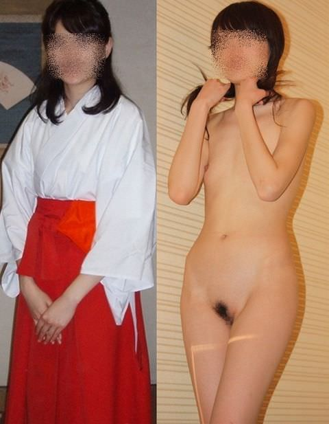 一般女性の普段の姿と服脱いで裸になった姿を比較した画像がヤバいwww 2125