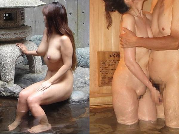 夫婦セックス旅行!!温泉旅行の貸切風呂で人妻のエッチなエロ写メ撮影 → ガチ投稿www 01 2