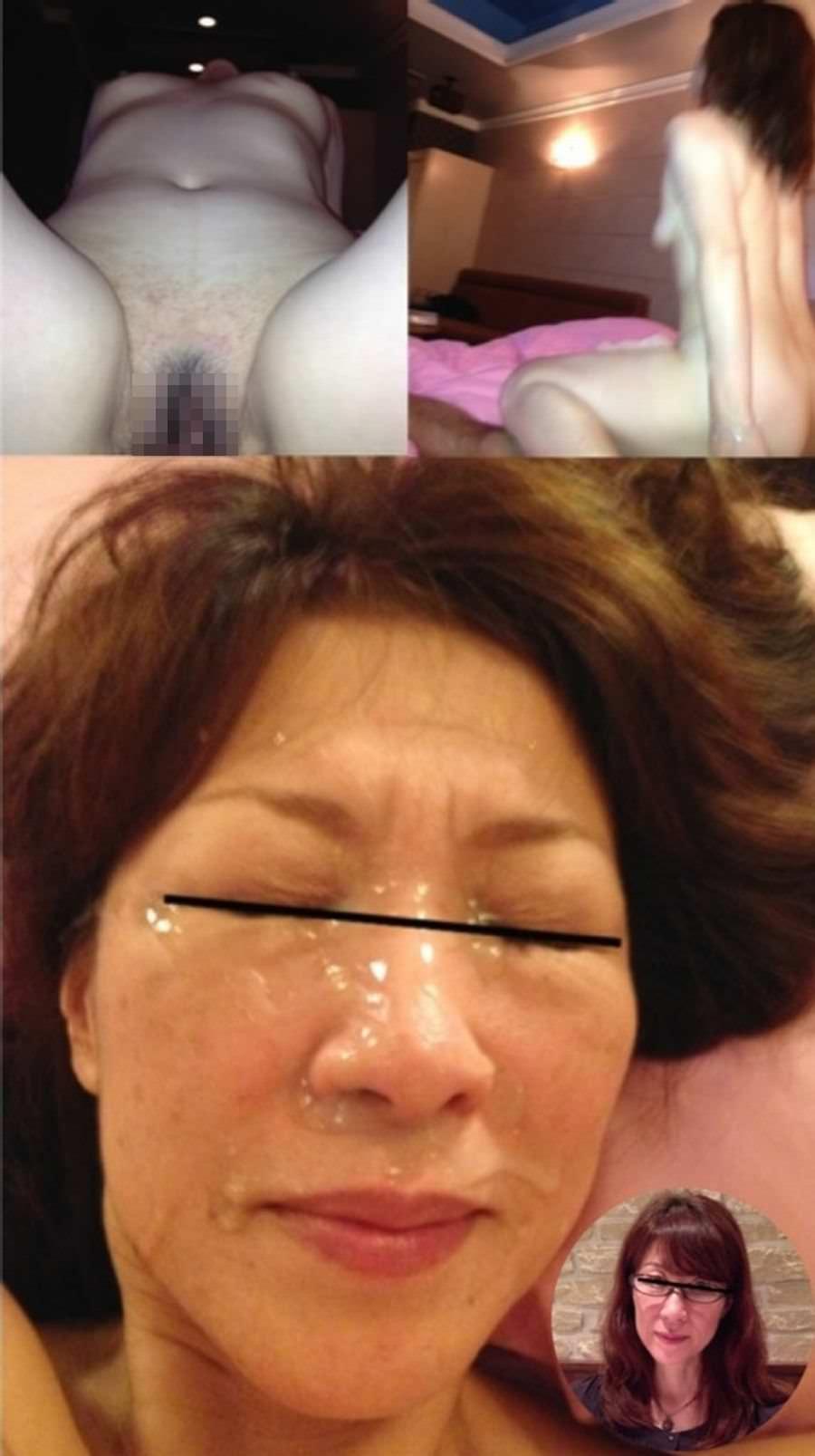 熟女に顔射www40・50代の性欲衰えない夫婦の個人撮影www 0522
