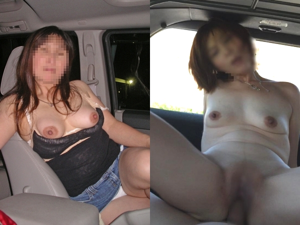 熟女の夫妻がカーセックスで燃えまくりwwwマンコおっぱい丸出しにハメ撮りまでwww 01 6
