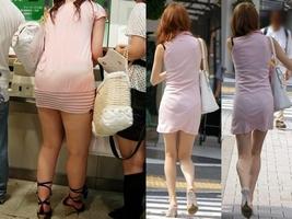 夏も終わるし街で見かけたパンツ透け透け娘の街撮り放出wwww