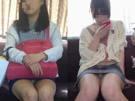 電車の中で正面にスカートが短い子がくるパンチラ撮られるwwwww
