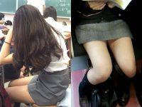 【画像】制服がタイトスカートのJKエロすぎい!!!