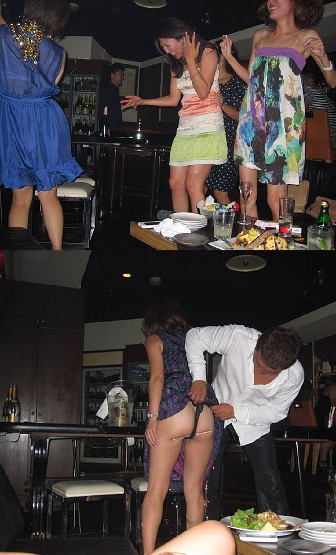 キャバ嬢が酔って調子こいておパンツ、おっぱい丸出しでおふざけしすぎwwwww 0131