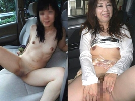 上司の奥さんと不倫中www車で人妻とカーセックスしまくる素人エロ画像