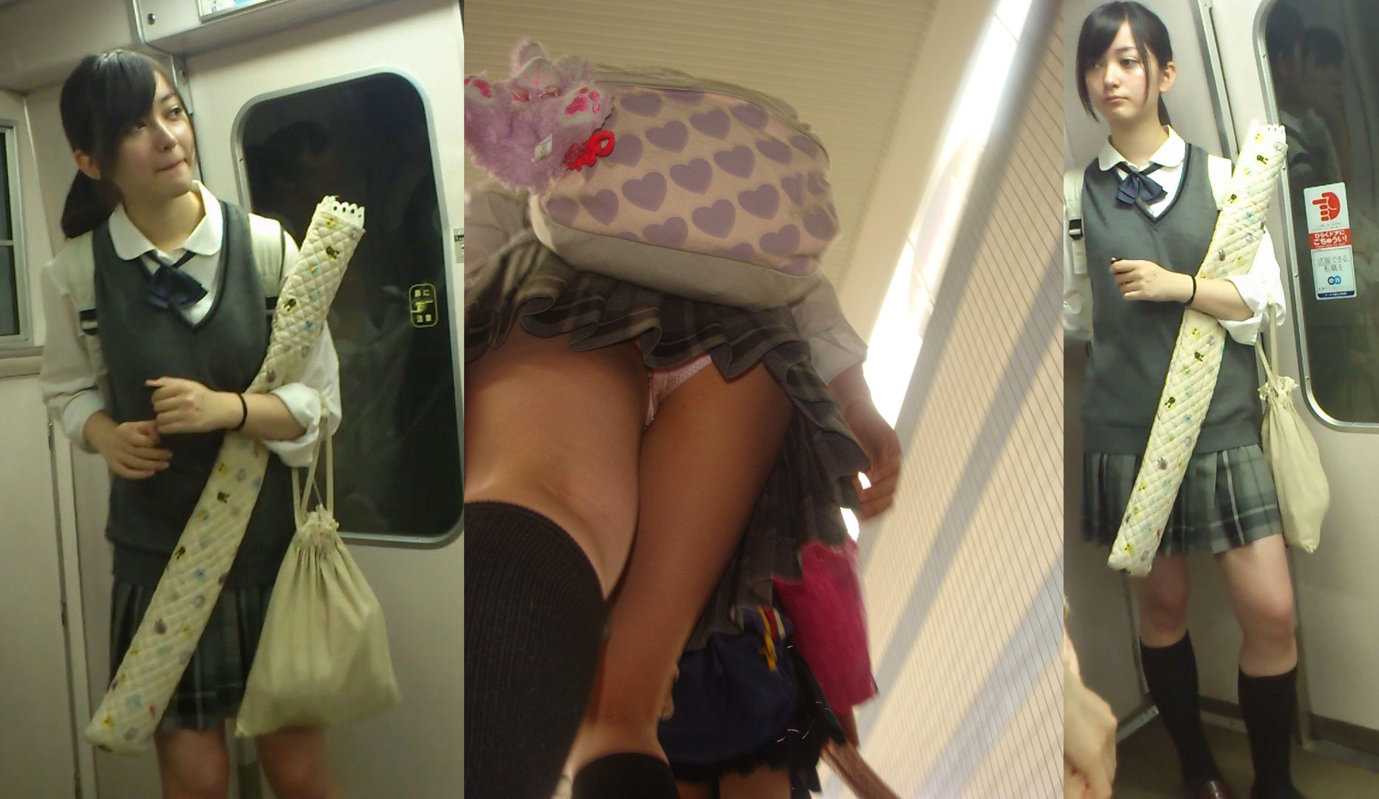 S級美少女の制服JCやJKが棚下からパンチラ覗きまくり画像