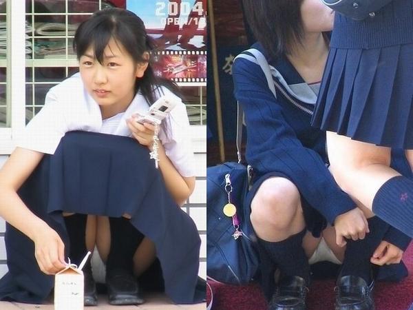 エロすぎる校生の妹が短いスカートから見えるパンチラの画像