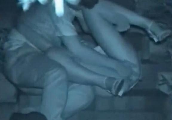 赤外線カメラで鮮明に撮られたカップル達の野外セックス!!!リア充は外でもセックスしまくりwww 0416