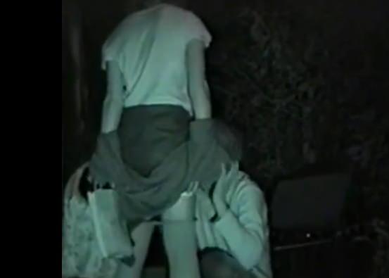 赤外線カメラで鮮明に撮られたカップル達の野外セックス!!!リア充は外でもセックスしまくりwww 0417
