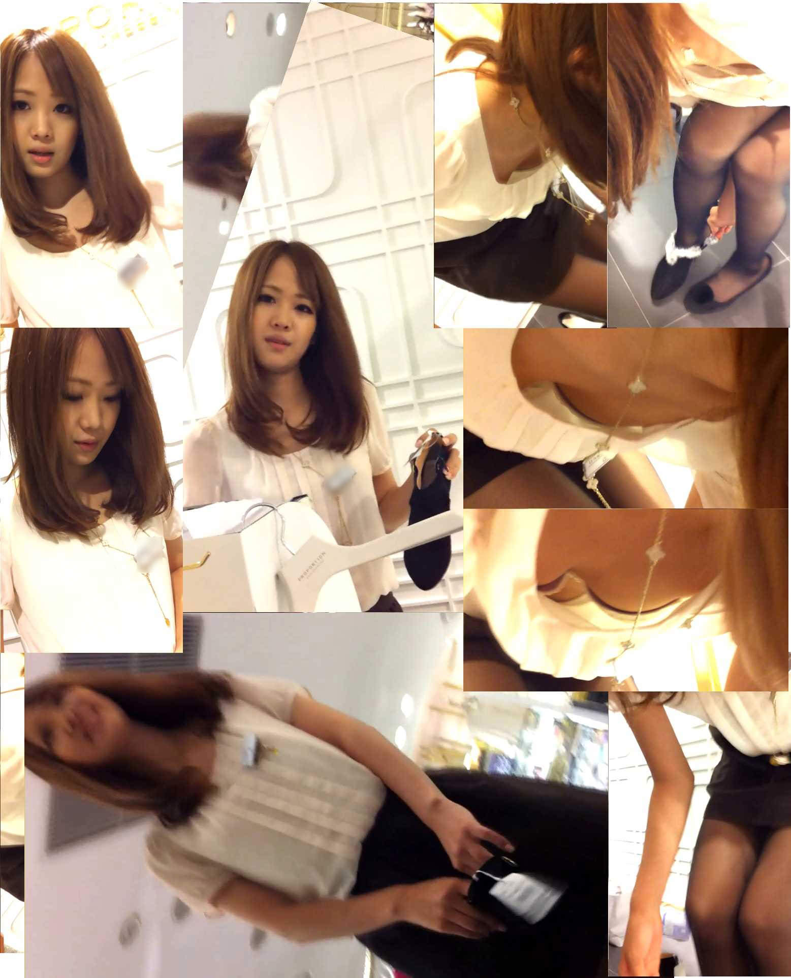 百貨店ショップ店員のキレイなお姉さんwww胸チラ隠し撮りのパラダイスだぁーwww 0601