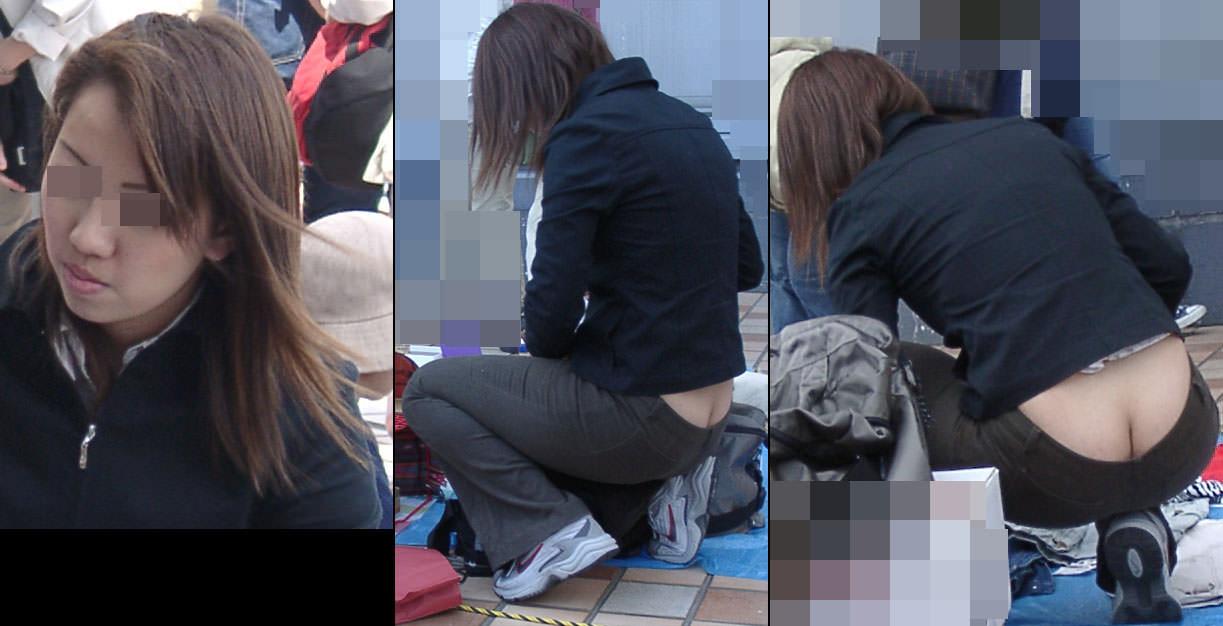 お尻の割れ目が丸見え素人娘を発見wwwおかず用に街撮りしますたwww 2402