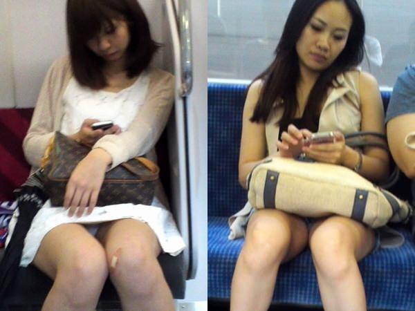 成熟した大人のオネエさんのパンティwwwwww列車で隠し撮りされたパンツ丸見え写真wwwwww