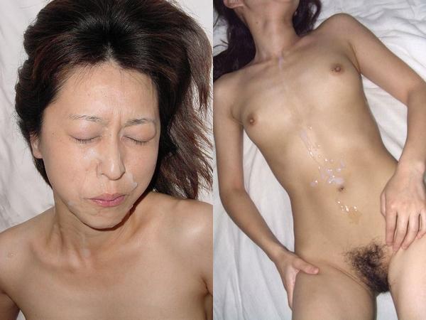 人妻の身体にたっぷりざーめんぶっかけだぁーwwwwwwカワイいお顔にガン射もするぜぇーwwwwww
