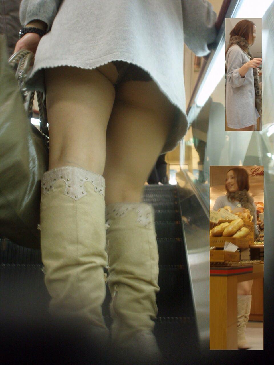 パンチラスポットのエスカレーターで素人お姉さんのパンツをガチ盗み撮りwww 18127