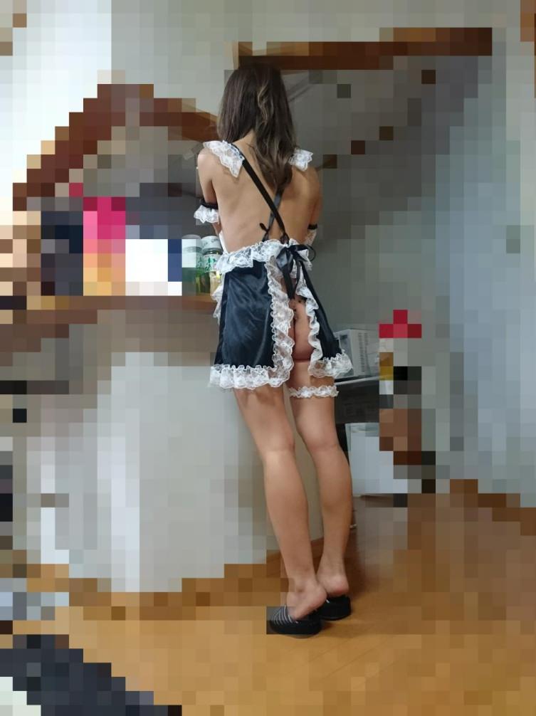 同棲中の素人カップルが簡単に楽しめる憧れの裸エプロンwww 02110