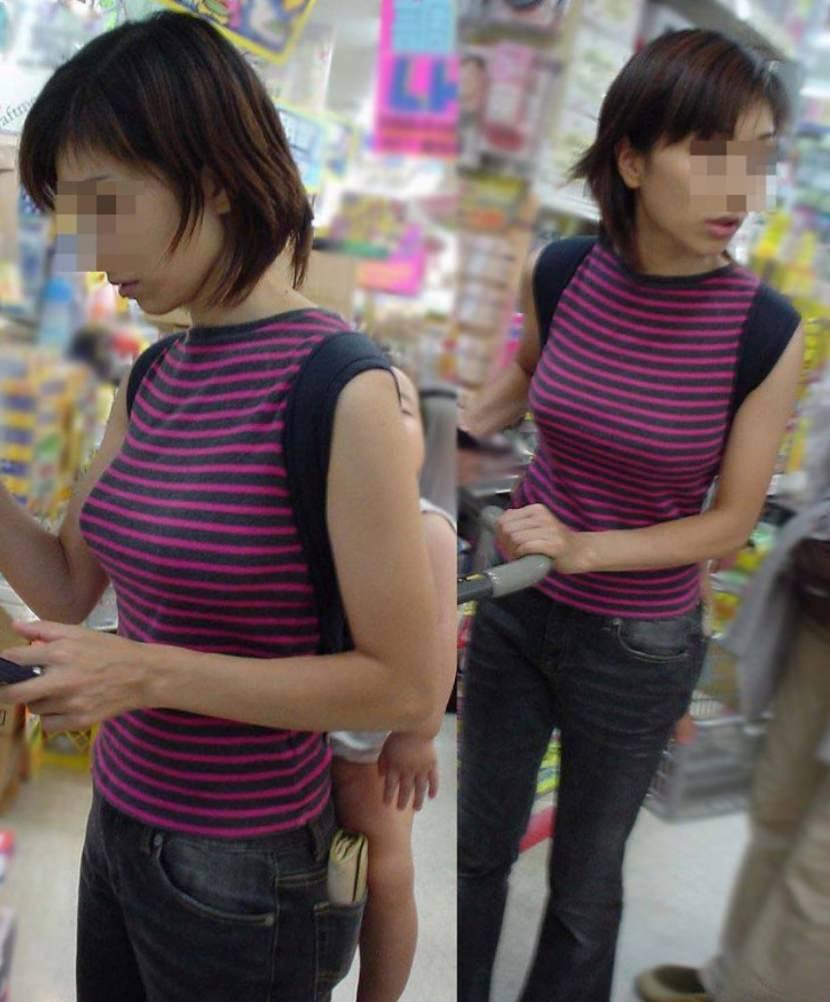 巨乳ではち切れちゃうよwww洋服パンパンの着衣おっぱい街撮り画像www 15148