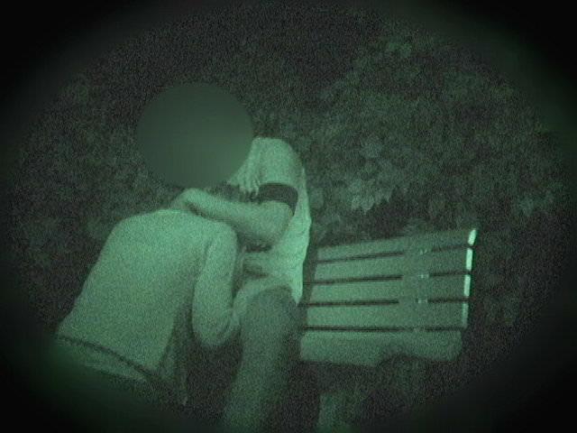 赤外線カメラでガチ盗撮!10代素人カップルが若さに任せた激しい野外セックスのエロ画像 1902