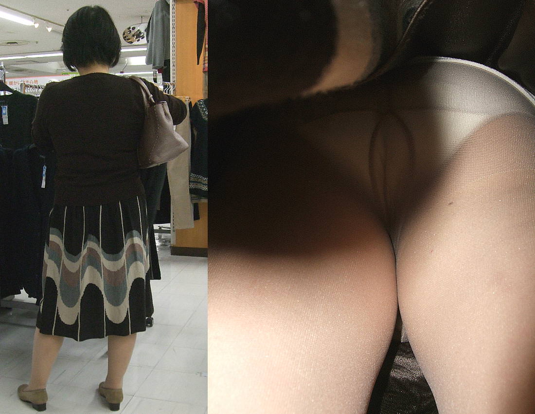 昼間にスーパーで買物中の人妻をこっそり付けてパンモロ画像を逆さ撮りwww 17468
