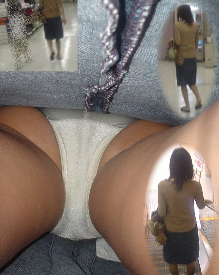 昼間にスーパーで買物中の人妻をこっそり付けてパンモロ画像を逆さ撮りwww 17470