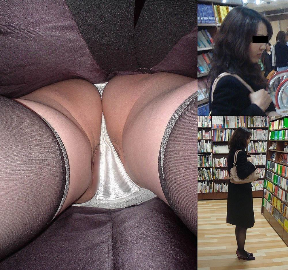 昼間にスーパーで買物中の人妻をこっそり付けてパンモロ画像を逆さ撮りwww 17482
