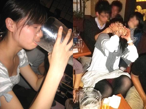 大学のコンパデビューで女子大生がピッチャー一気飲みwww酔ってふざけておパンツ丸見え絡み酒だぁーwww 01 27