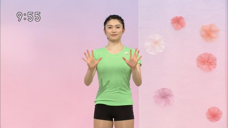 NHKテレビ体操のお姉さん、みんなムチムチだからエロ目線のキャプ画像wwwwwww 09 1
