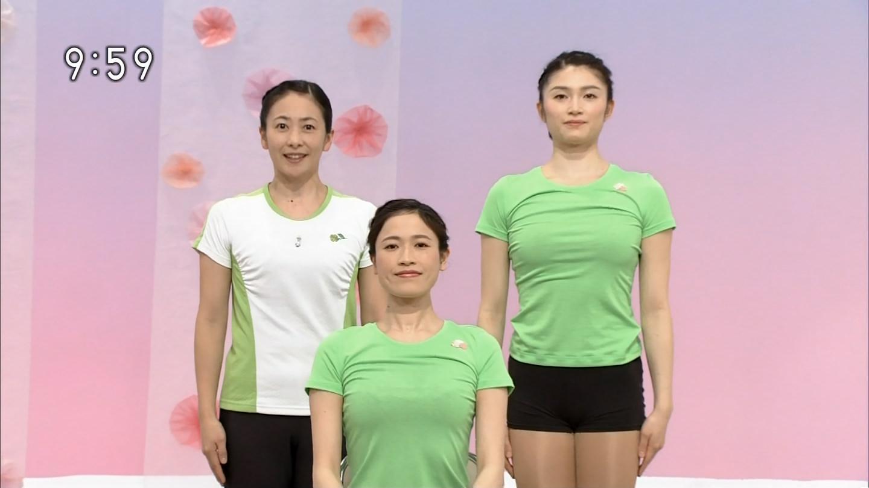 NHKテレビ体操のお姉さん、みんなムチムチだからエロ目線のキャプ画像wwwwwww 15 1
