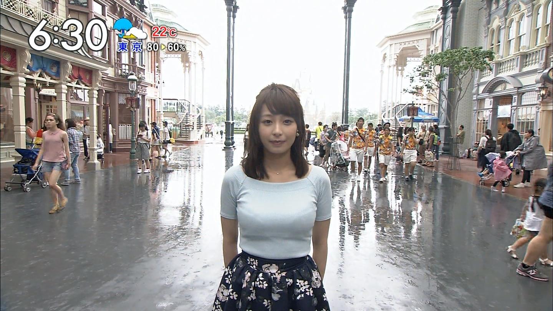 宇垣美里アナ(26)の着衣おっぱいデカ過ぎじゃない????????? 1519980732609