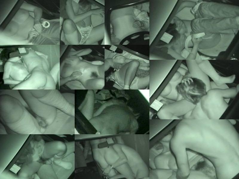 深夜の揺れる車を覗いたらガチカーセックス発見www赤外線カメラで隠し撮りwww 21382