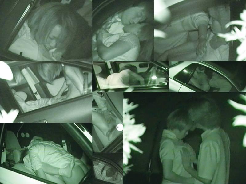 深夜の揺れる車を覗いたらガチカーセックス発見www赤外線カメラで隠し撮りwww 21386