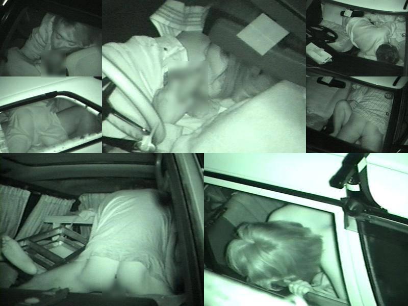 深夜の揺れる車を覗いたらガチカーセックス発見www赤外線カメラで隠し撮りwww 21387