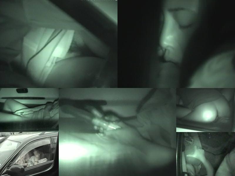 深夜の揺れる車を覗いたらガチカーセックス発見www赤外線カメラで隠し撮りwww 21390