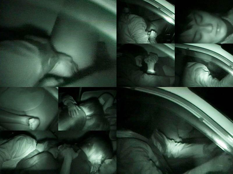 深夜の揺れる車を覗いたらガチカーセックス発見www赤外線カメラで隠し撮りwww 21396