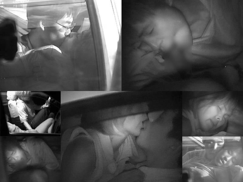 深夜の揺れる車を覗いたらガチカーセックス発見www赤外線カメラで隠し撮りwww 21398