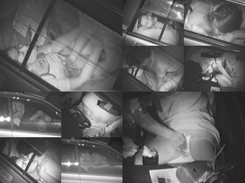 深夜の揺れる車を覗いたらガチカーセックス発見www赤外線カメラで隠し撮りwww 21401
