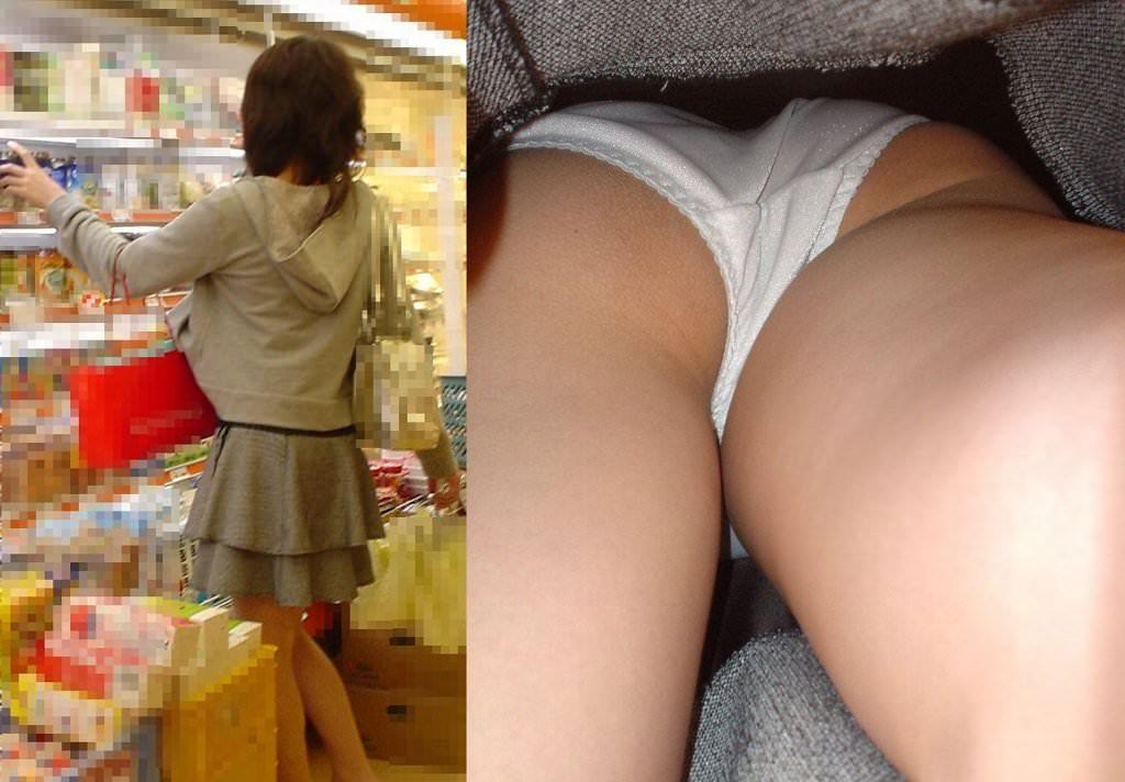 OLや女子大生の私服のスカートの中をパシャリ!!!逆さパンチラのエロさは異常www 2159