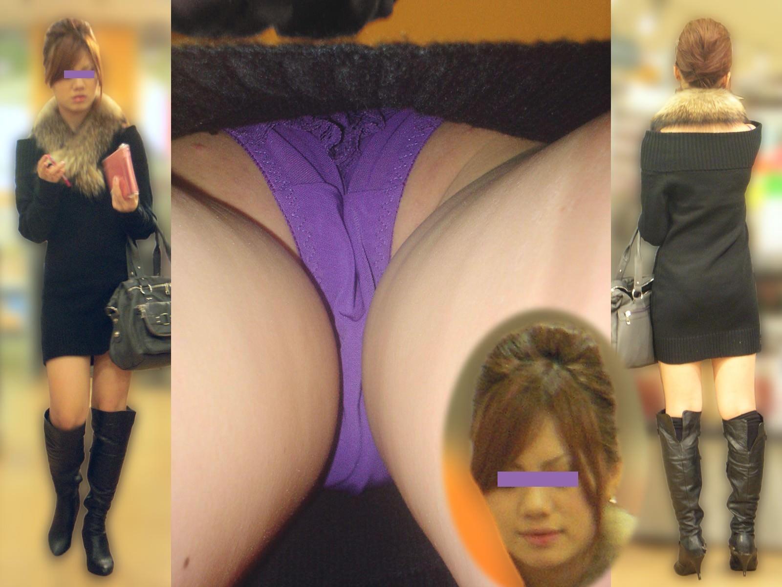 OLや女子大生の私服のスカートの中をパシャリ!!!逆さパンチラのエロさは異常www 2162