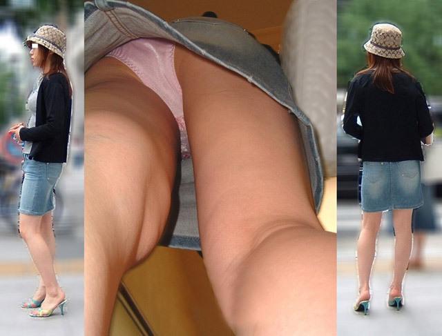 OLや女子大生の私服のスカートの中をパシャリ!!!逆さパンチラのエロさは異常www 2163