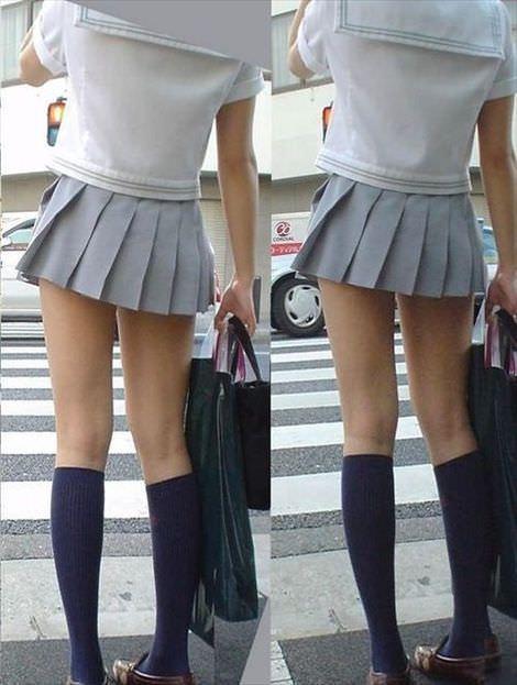 ムチムチお肉がはち切れそうな女子高生の太もも街撮り画像 21673