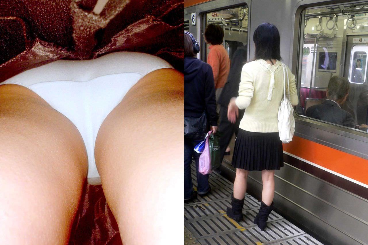 OLや女子大生の私服のスカートの中をパシャリ!!!逆さパンチラのエロさは異常www 2179