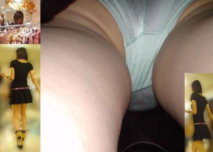 OLや女子大生の私服のスカートの中をパシャリ!!!逆さパンチラのエロさは異常www 2181