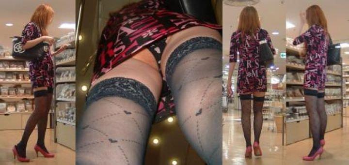 OLや女子大生の私服のスカートの中をパシャリ!!!逆さパンチラのエロさは異常www 2184