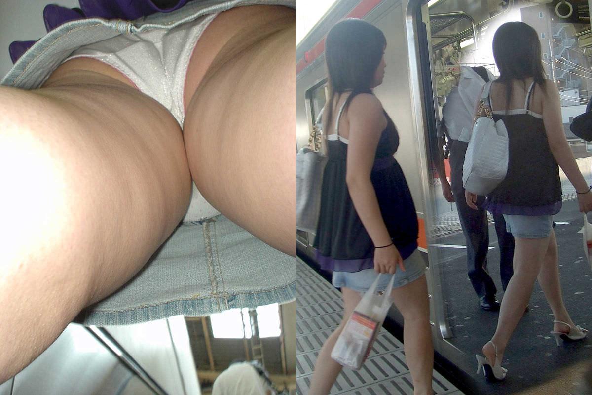 OLや女子大生の私服のスカートの中をパシャリ!!!逆さパンチラのエロさは異常www 2185